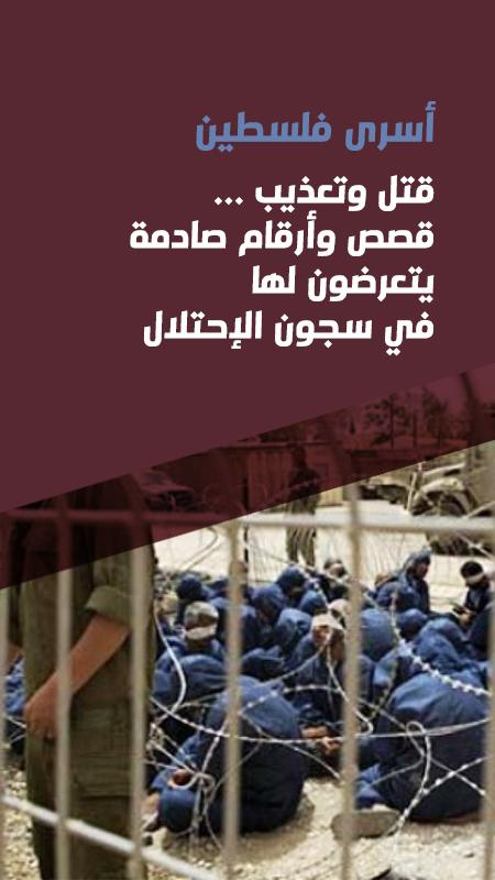 أسرى فلسطين  قتل وتعذيب ... قصص وأرقام صادمة  يتعرضون لها في سجون الإحتلال