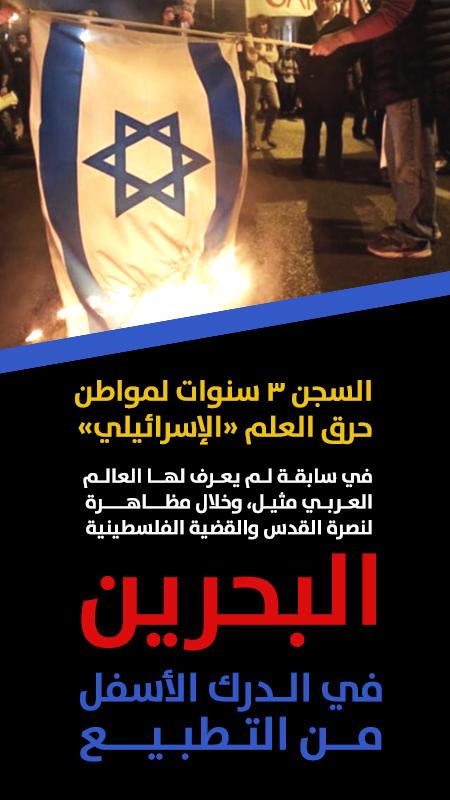 السجن 3 سنوات لمواطن بحريني حرق العلم «الإسرائيلي»